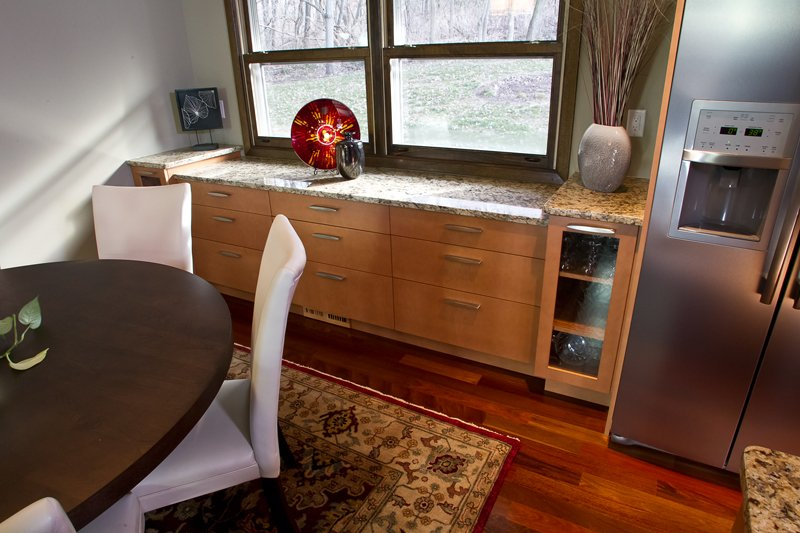 Kitchen Remodeling and Design, built-in dining room buffet