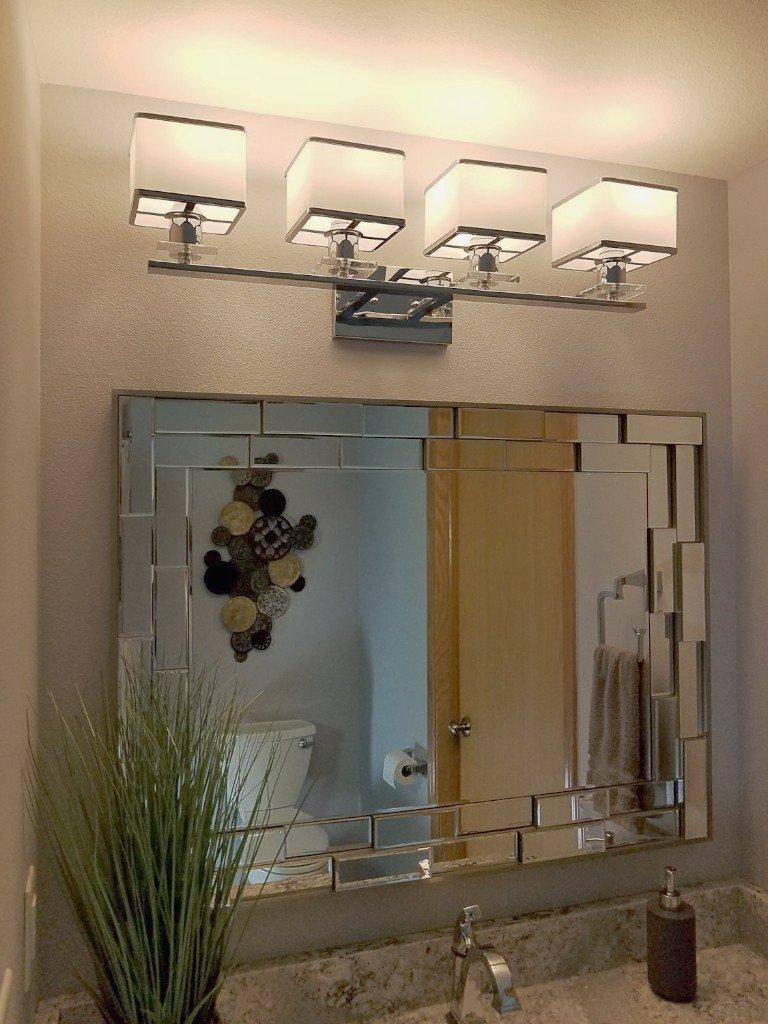 4 light vanity fixture, Paddington 4-Light Vanity Light by Red Barrel Studio, Zgallerie kenzie mirror