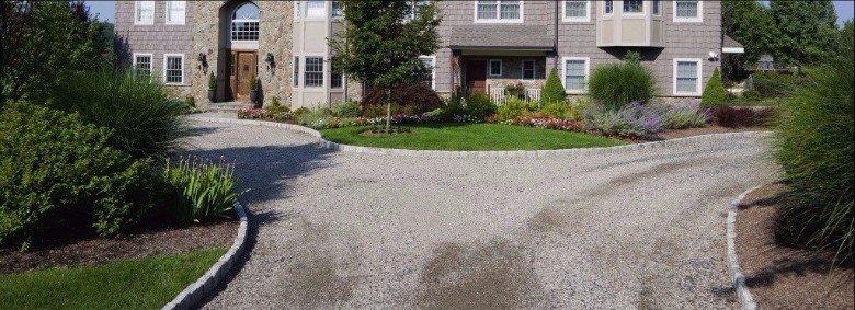 Stone work driveway