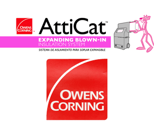 attic cat, owens corning logos