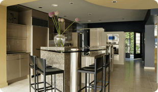 A newly remodelled kitchen