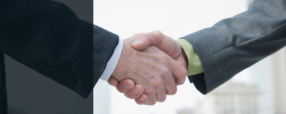 Attorney shaking hands