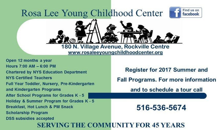 Rosa Lee Young Childhood Center Brochure