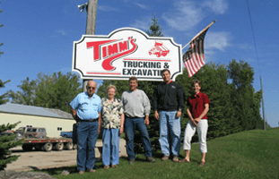 Timm's Trucking and Excavating callout