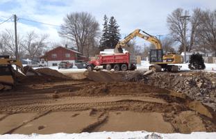 A excavation