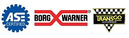ASe, Borg Warner and Transgo logos