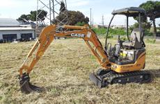 A tractor shovel