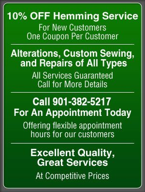 Alteration Services - Memphis, TN - Alterations By Deb