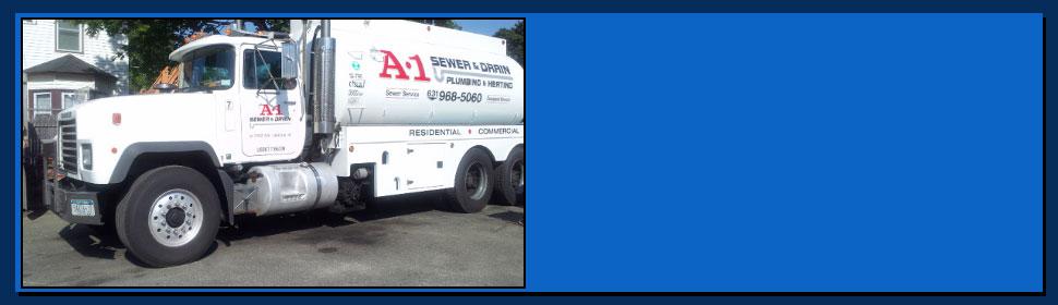 A-1 sewer & drain service pump truck