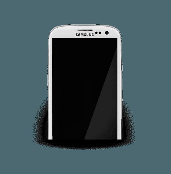 white samsung phone