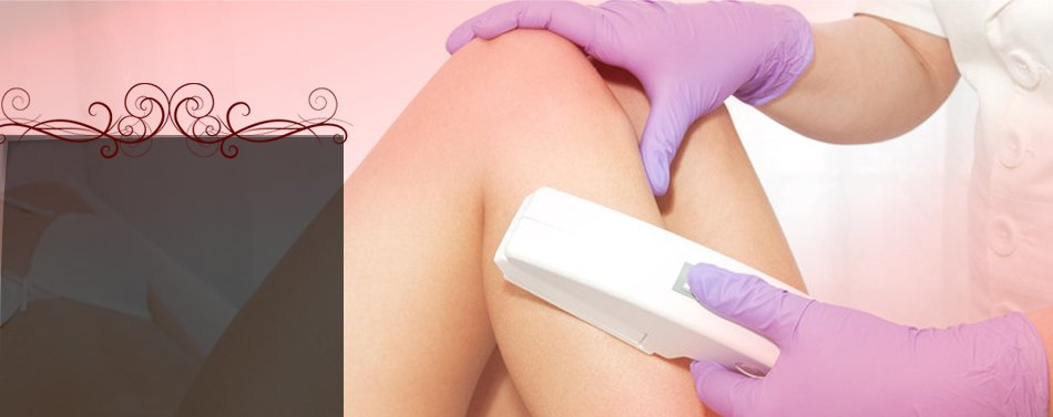 Waxing of woman legs