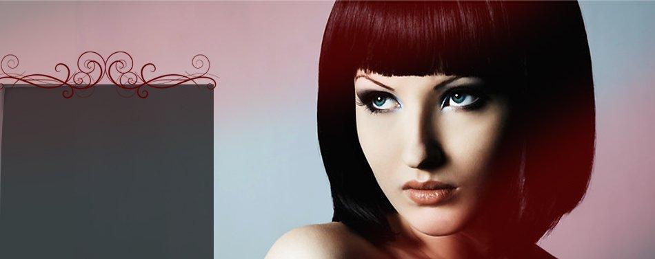 Beautiful woman short hair