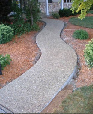 Picture of a concrete driveways