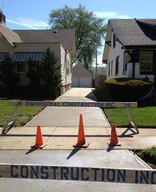 Concrete work by dimensional construction inc