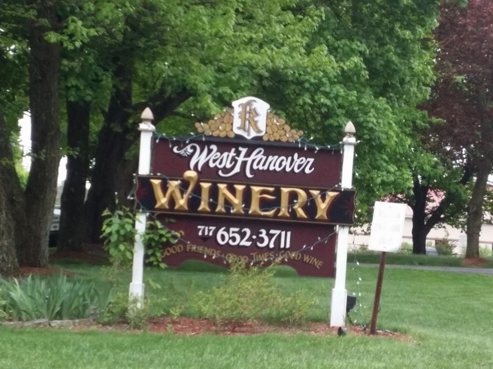 West Hanover Winery name board