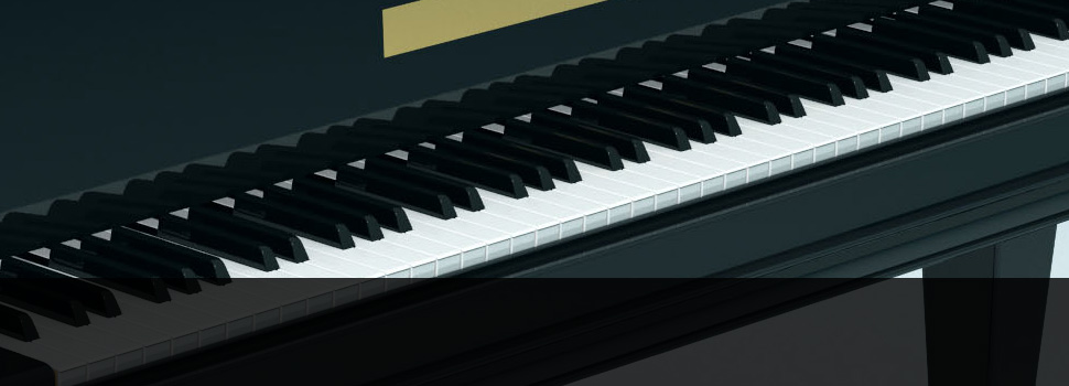 Black furnished piano