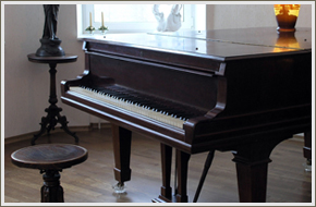 Piano with a new look after being rebuilt