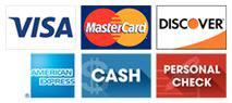 VISA-MasterCard-Discover-AMEX-Cash-CHECK