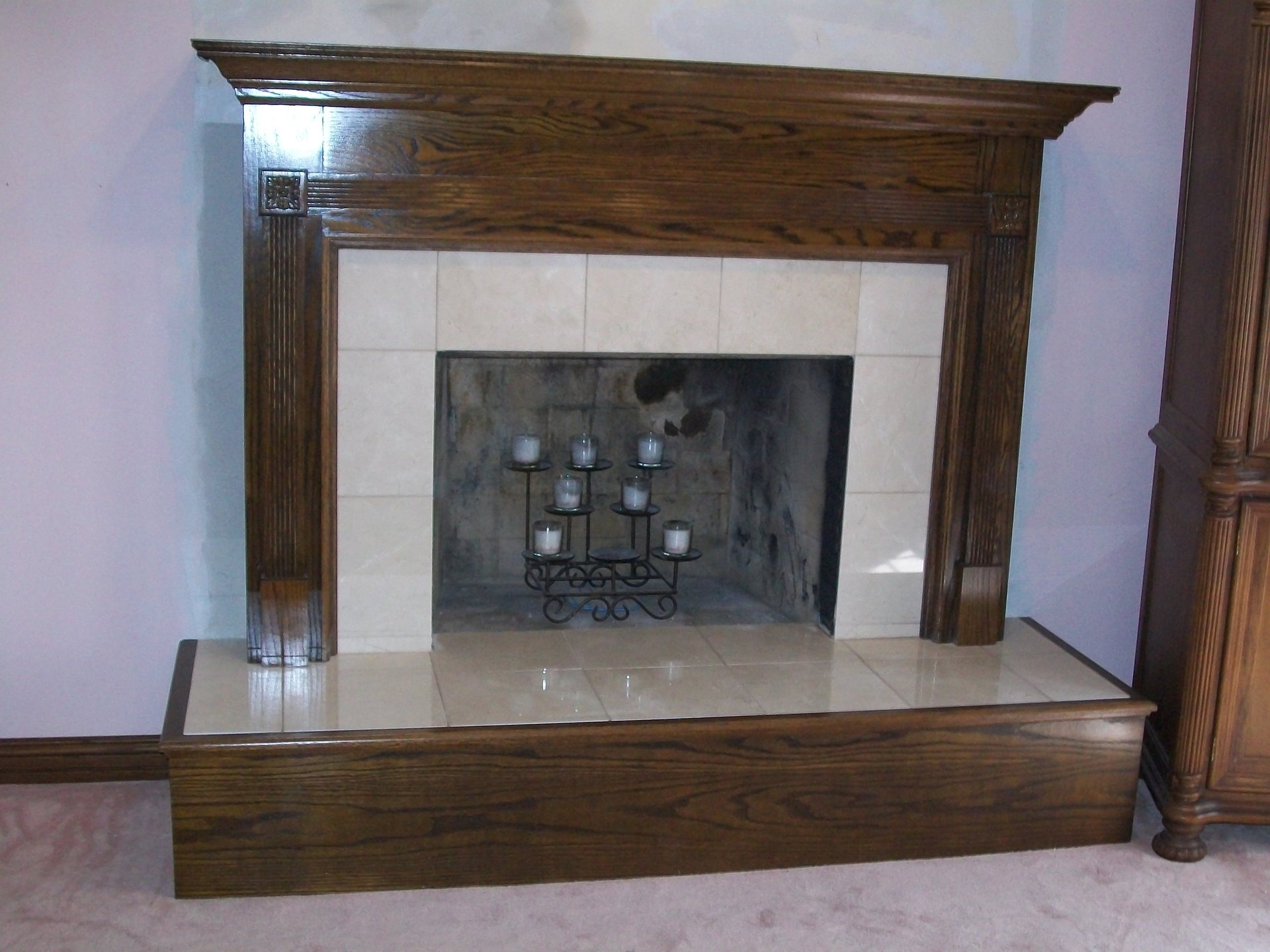 gas insert custom mendota on sedona fireplace with l chilton stone screen rustic mantel