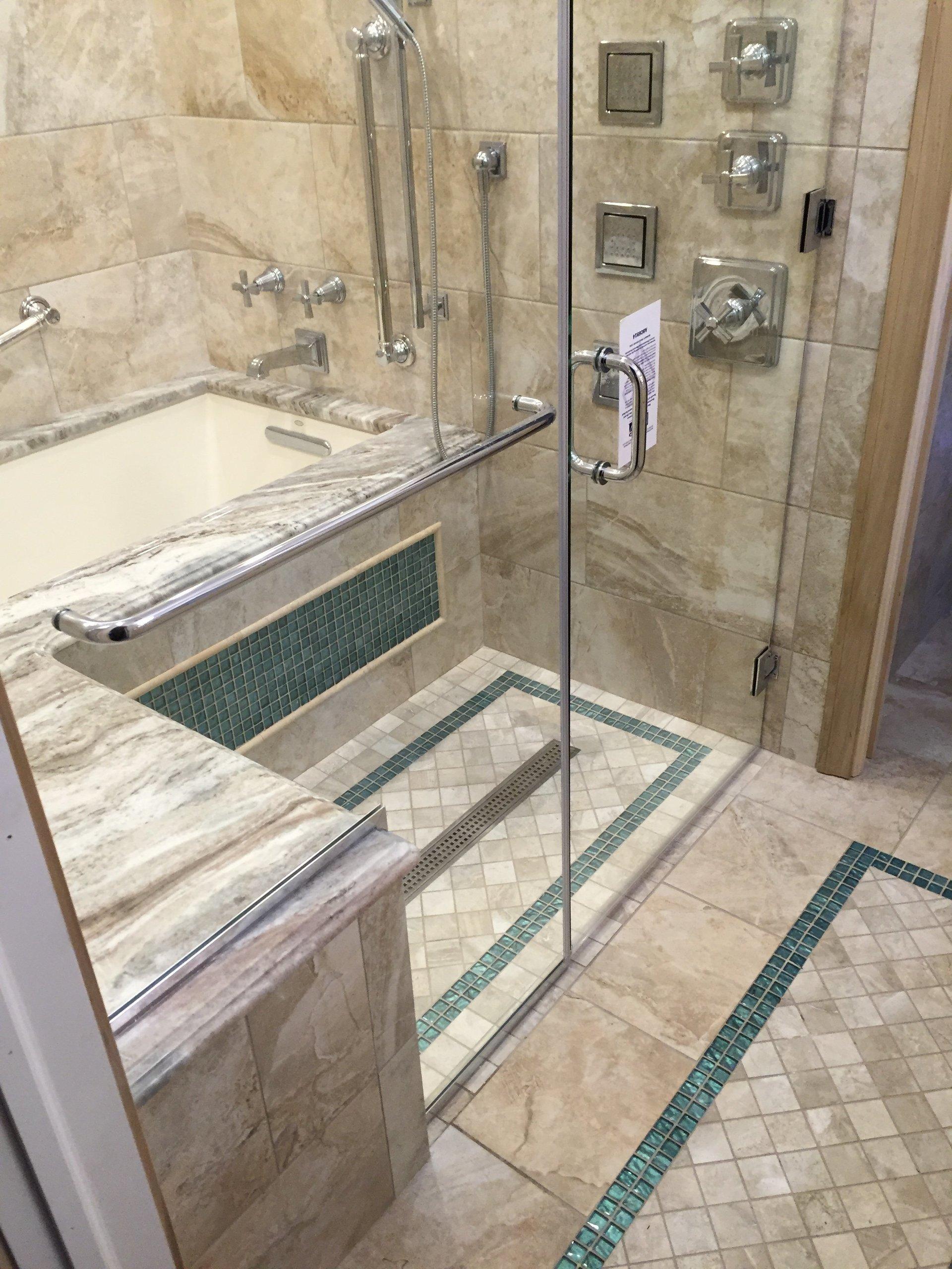 pin okc thassos possible tile splendor company star doors master shower silver bath