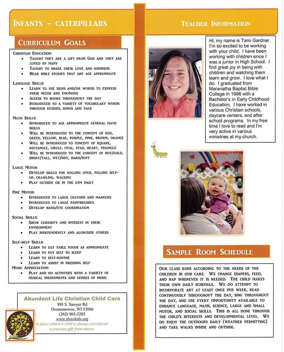 Infant & Toddler   Oconomowoc, WI   Abundant Life Christian Child Care   262-965-2285