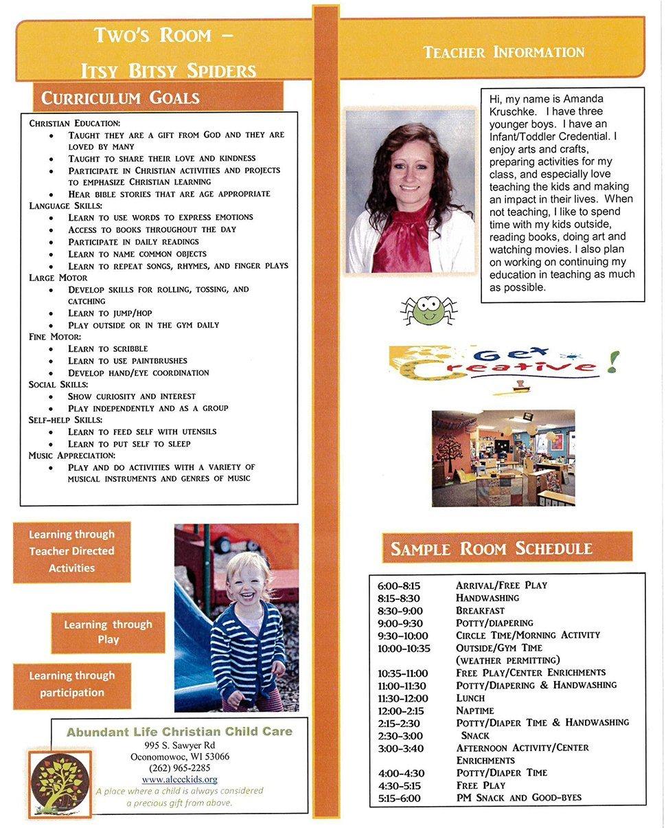 2's & 3's | Oconomowoc, WI | Abundant Life Christian Child Care | 262-965-2285