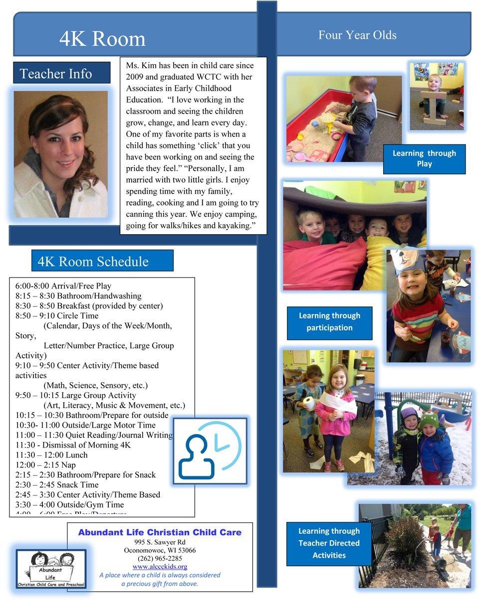 Oconomowoc, WI   Abundant Life Christian Child Care   262-965-2285