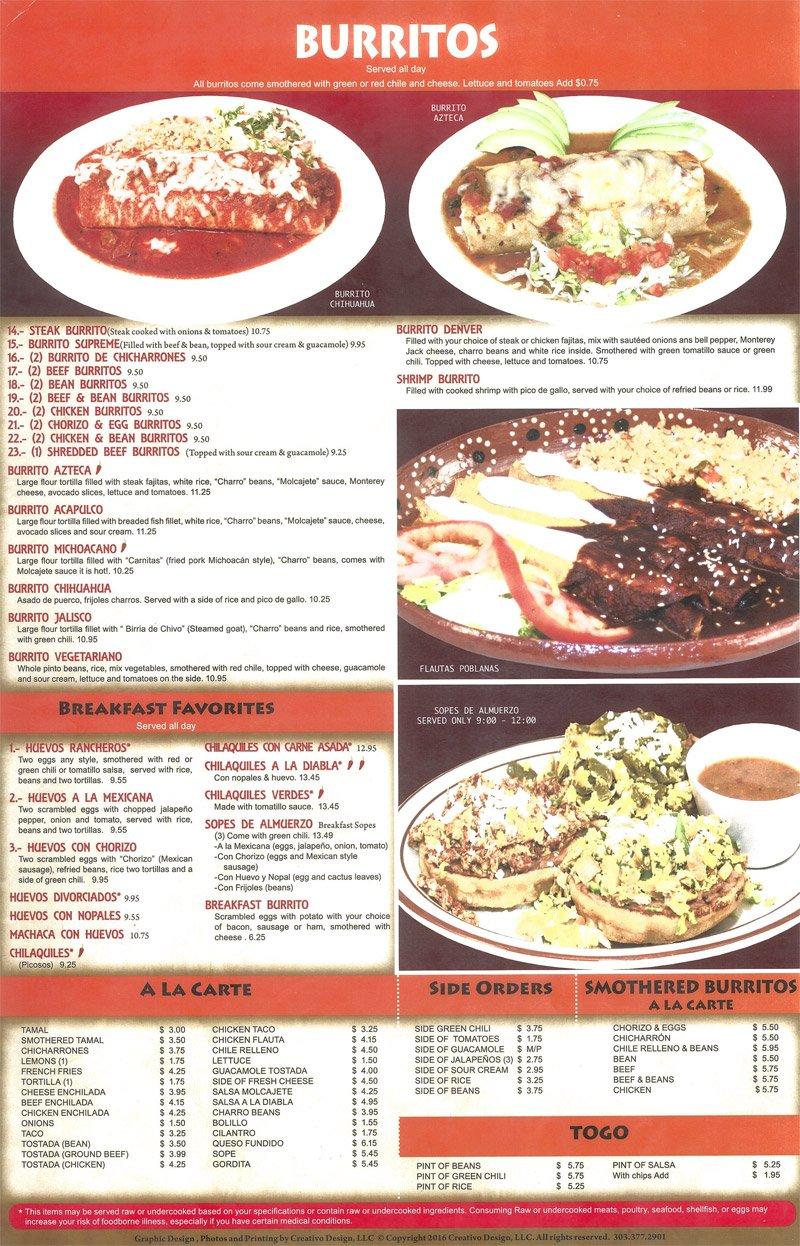 El paraiso mexican restaurant breakfast menu denver open pdf forumfinder Choice Image