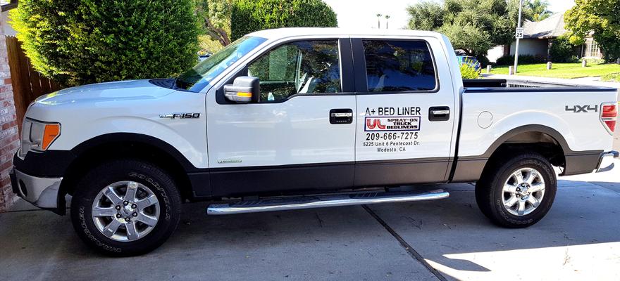 A+ Bedliner pickup