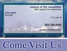 Homeless Service - Allentown, PA - VISIONS OF LIFE