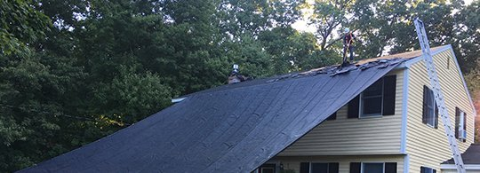 roof during installation