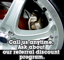 Auto Brake Repair - Virginia Beach, VA - Unique One Automotive Mobile Repair Service - Call us anytime. Ask about our referral discount program.