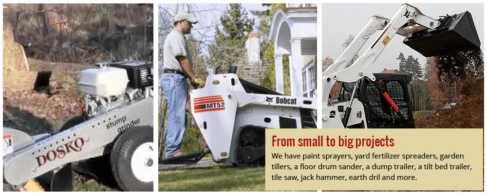 Stump Grinder, Bobcat, excavator