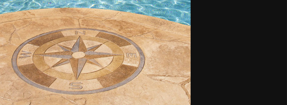 stamped concrete with design