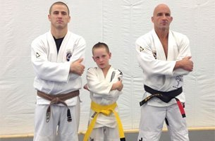 Martial artist on training