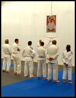 Martial artist standing