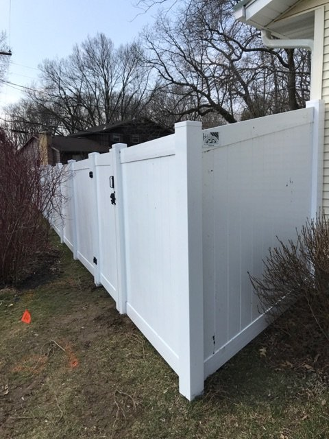 Pvc Privacy Fence Installed