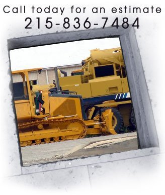 Foundation Contractors -  Flourtown, PA - Iannuzzi Construction Co. Inc.- Construction Vehicles - Call today for an estimate  215-836-7484