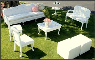 Black and white party furnitures