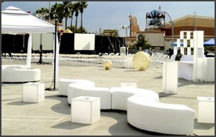 White party furnitures