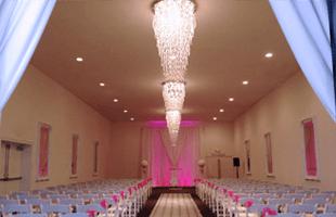 Wedding reception table arrangement