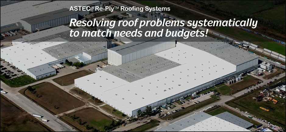 Men cleaning a commercial roofing