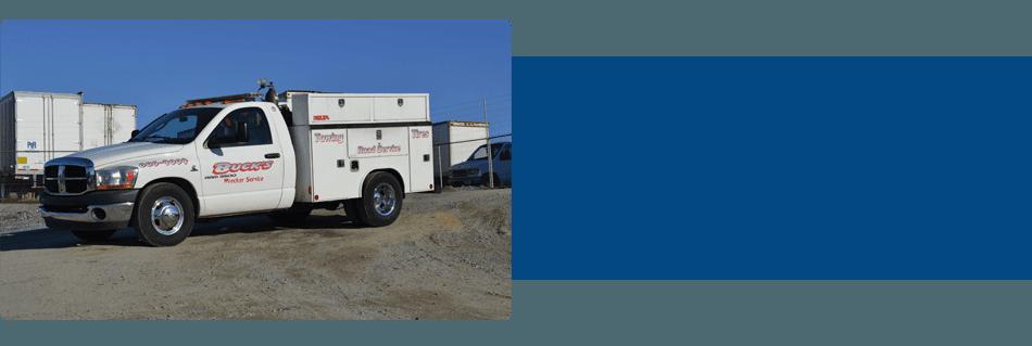 White service truck