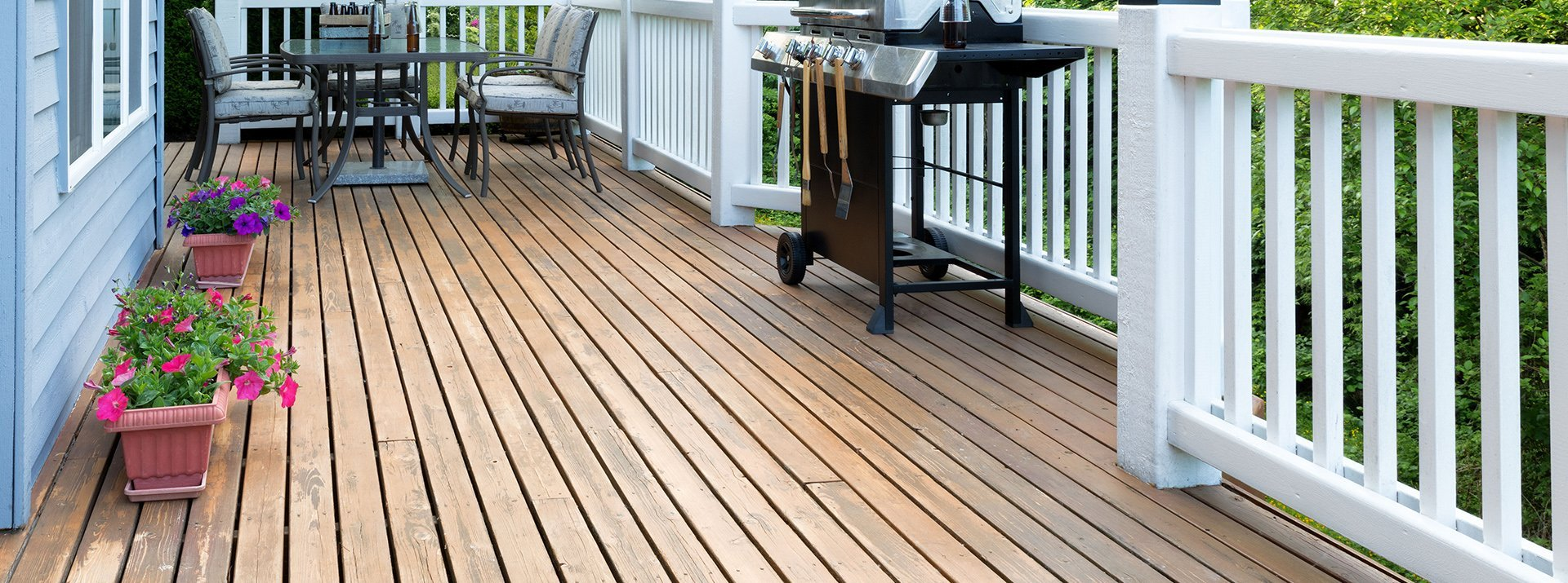 Cedar wood decks