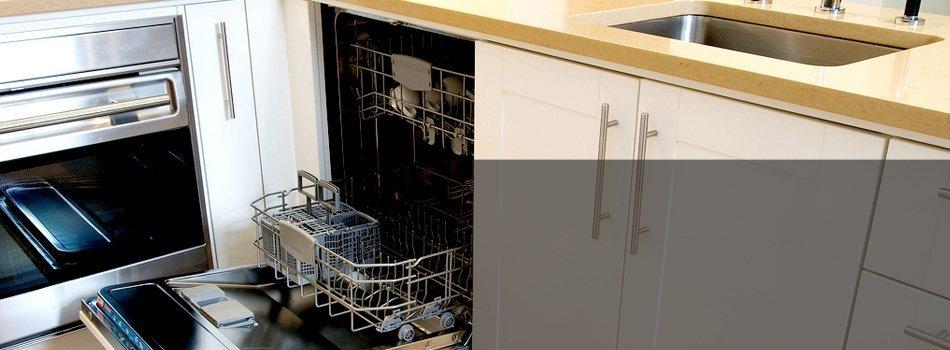 Modern dishwasher inside the kitchen