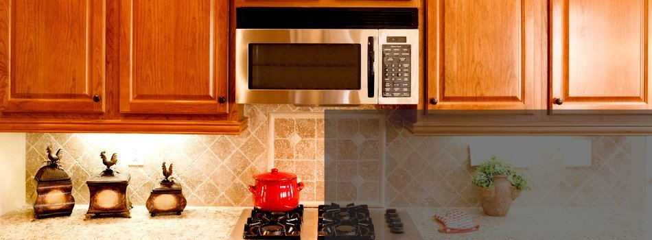 Microwave at kitchen