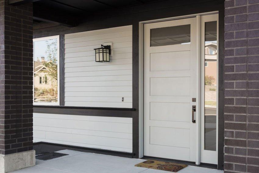 Exterior white door