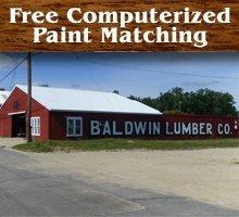 Plumbing - Baldwin, MI - Baldwin Lumber - Plumbing - Free Computerized Paint Matching
