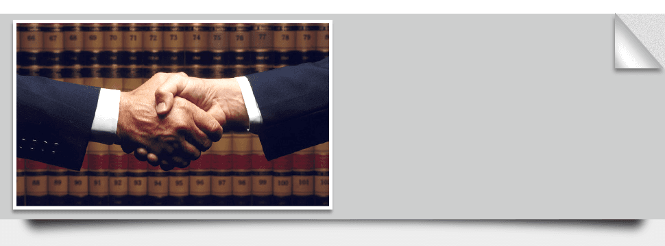 A Handshake between a lawyer and a client