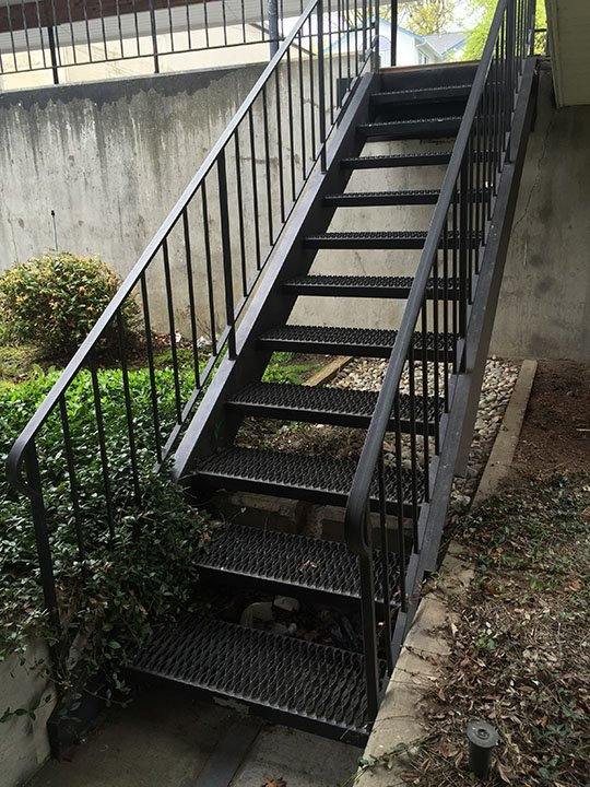 Metal Handrail Designs Bellingham Wa Metal Stair Designs